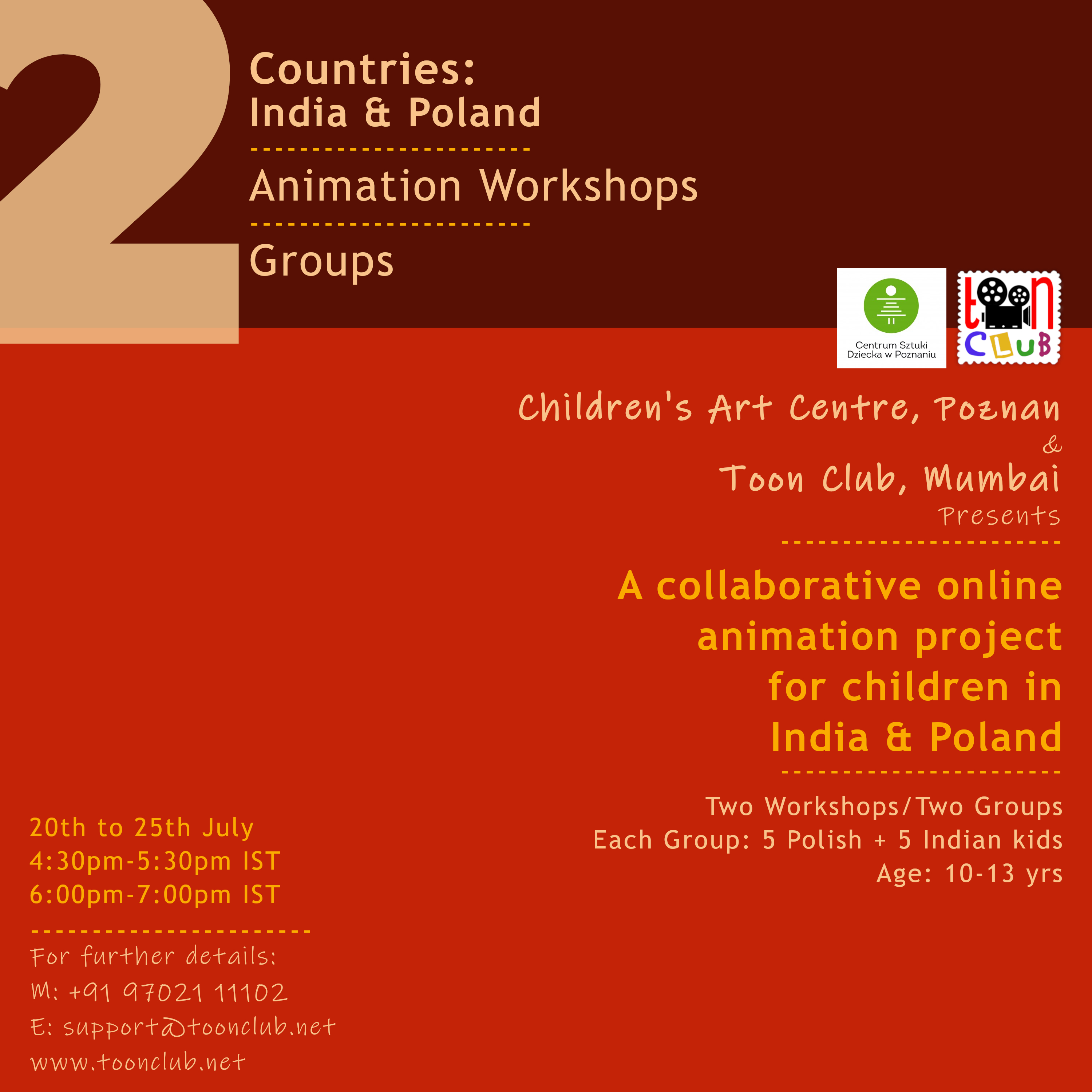 'Collaborative Online Animation Project for Children in India & Poland'
