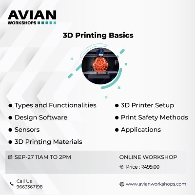 Online Workshop on 3D Printing Basics